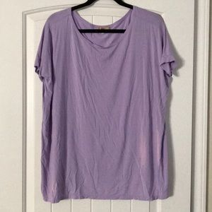 Piko Short Sleeve Crew Purple Shirt